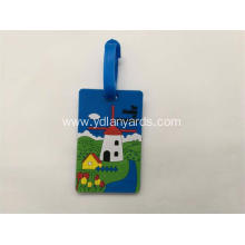 Custom Travel Baggage Soft PVC Luggage Tag